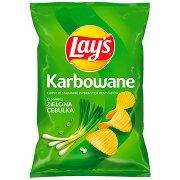 Lay's Chipsy Ziemniaczane Karbowane o Smaku Zielonej Cebulki