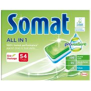 Somat Pro Nature All In 1 Tabletki Do Mycia Naczyń w Zmywarkach 864 g (54 x )