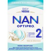 Nestlé Nan Optipro 2 Mleko Modyfikowane w Proszku Dla Niemowląt Powyżej 6. Miesiąca 2x400g
