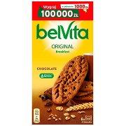 Belvita Breakfast Ciastka Zbożowe o Smaku Kakaowym z Kawałkami Czekolady  (24 Sztuki)